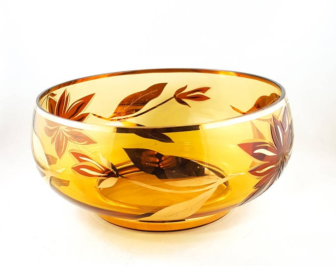 Stunning Hand Painted Gilded Fruit Bowl