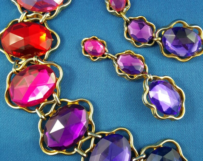 Bijoux Di Carlotta Vintage Costume Designer Bracelet and Earring Set