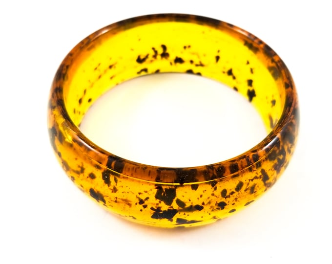 Beautiful Acrylic  Bangle with tortoise color speckled motif