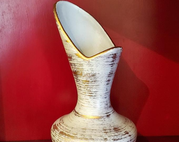 Gorgeous German Haegar Gold and White Vase