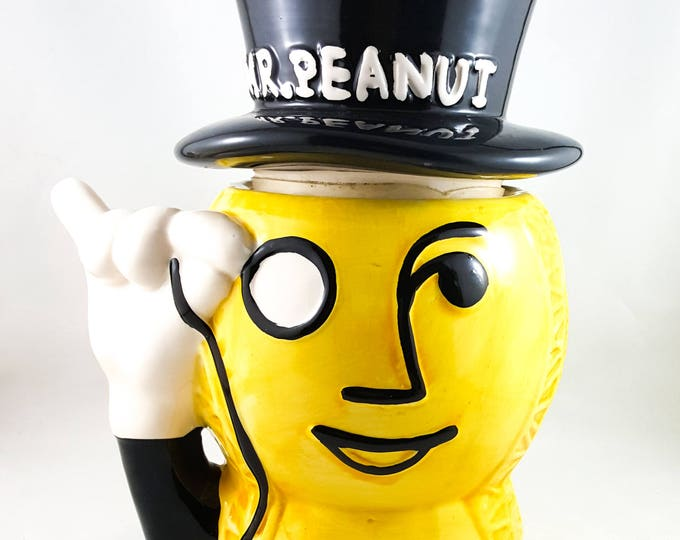 Mr. Peanut Ceramic Cookie Jar