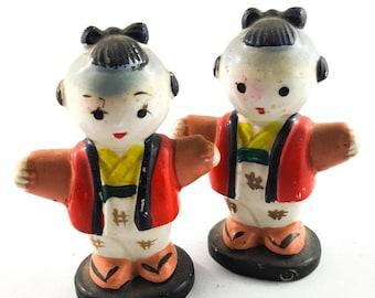 Sweet Little Asian Salt and Pepper Shakers