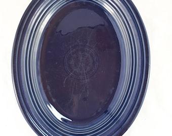 Original Blue Fiesta Oval Platter
