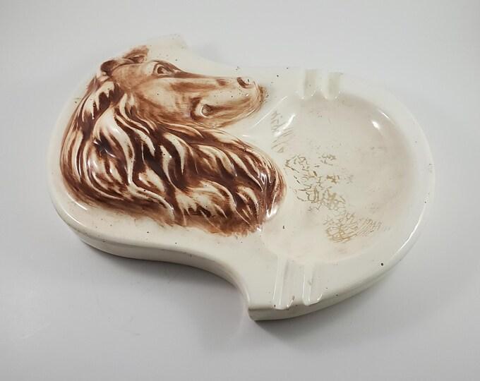 Collie Dog Ceramic Ashtray/Trinket Dish.