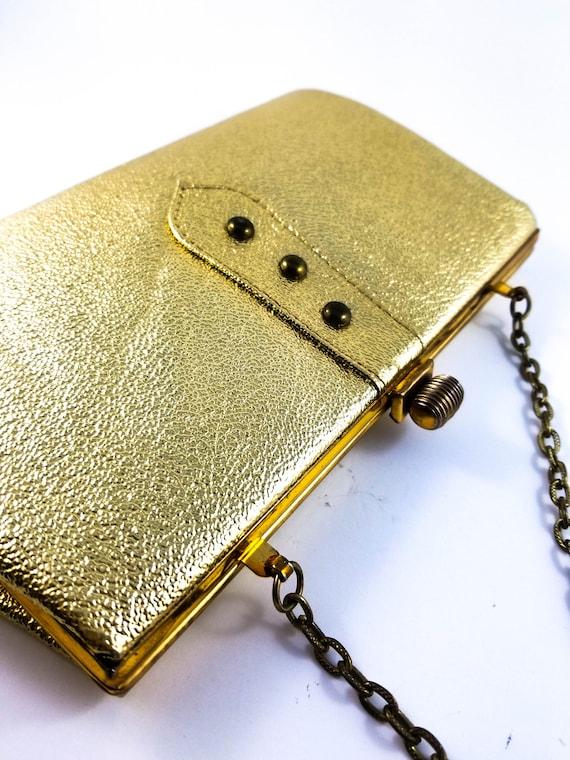 Vintage 1950's Gold lamé evening Bag