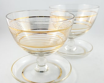 Two Beautiful Gilt Mousse Cups