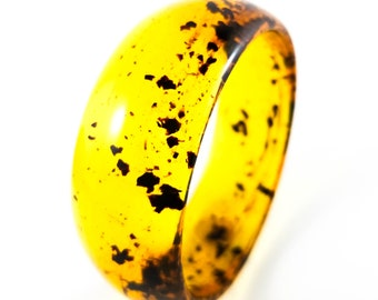 Fab Acrylic Spotted Amber  Bracelet