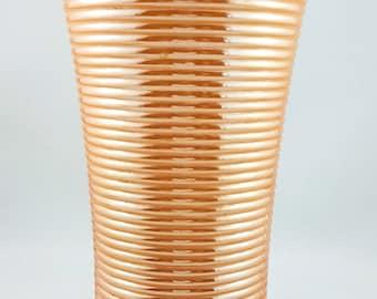 NEW PRICE!!  Ribbed Lustreware Vase