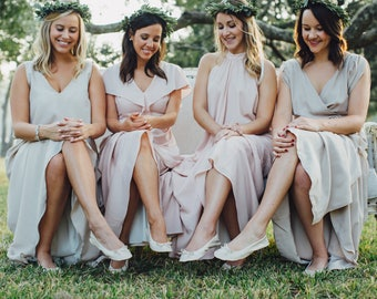 Cinderollies bridesmaid gift,wedding flats,wedding shoes,foldable flats,bridesmaid slippers,rollable flats,flat wedding shoes,bridal flats