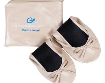 Nude Cinderollies Foldable Flats,Ballet Flats,foldable ballet flats,shoes,Wedding Flats,wedding shoes,flat wedding shoes,Bridal Flats,flats