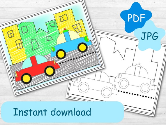 Easy Coloring Pages Cars of Fire Trucks Printable Coloring for ...   428x570