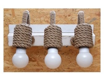 Articoli simili a vanità applique lampada della parete legno e