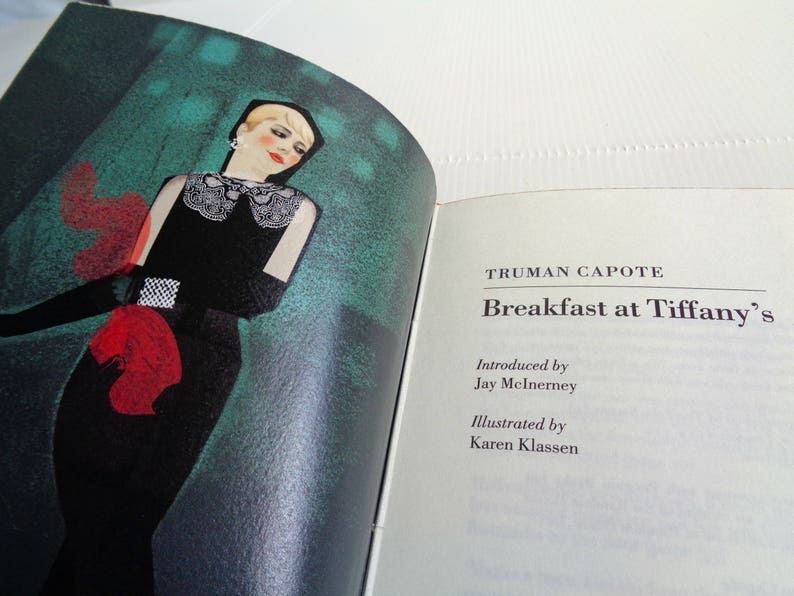 bc98654977e9 SALE Breakfast at Tiffany s Truman Capote illustrated