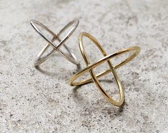 GIZMO X Ring / Cross Ring / Kreuz / Criss Cross / Minimal Collection