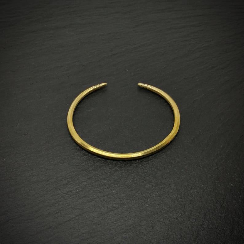 Golden Metal Cuff  Bangle  Bracelet  Brass