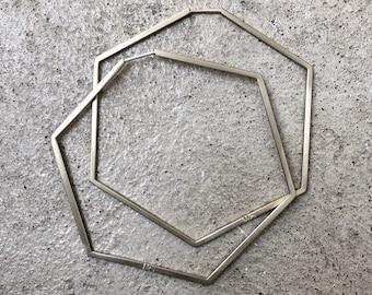 PENTA/HEXA Hoop Earrings / Creoles / Earrings / Pentagon / Hexagon / Geometric Jewelry / Polygon Collection