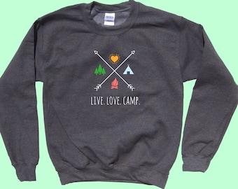 Live. Love. Camp. X - Crewneck Sweatshirt