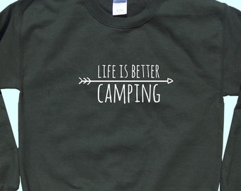 Life Is Better Camping - Crewneck Sweatshirt