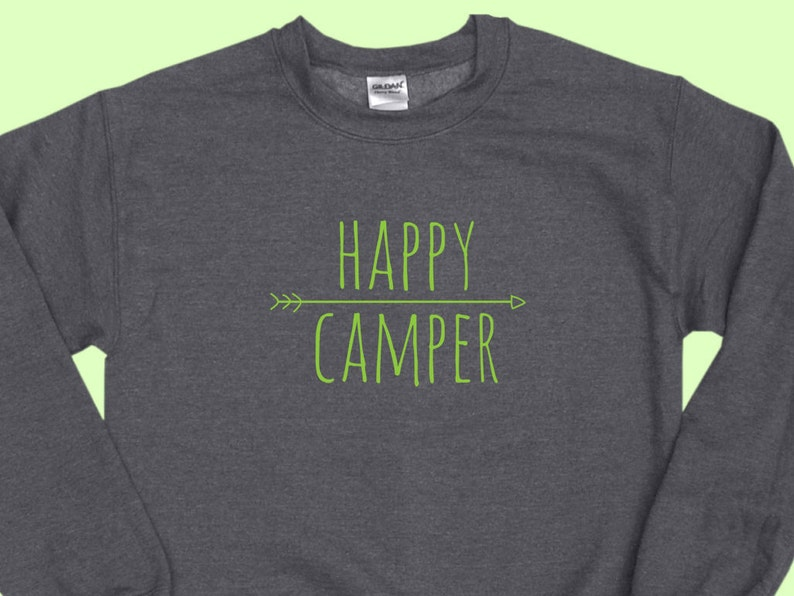 e030617cb5843 Happy Camper Arrow Crewneck Camping Sweatshirt