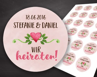 Announcement Wedding, Wedding Invitation, Wedding Invitation, We Marry, Wedding Party, Planner Stickers, Stickers, Save the date, Labels