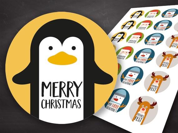 40 Personnalisé Noël Autocollants Étiquettes-Cadeaux de Noël parcelles Santa Presents étiquettes,