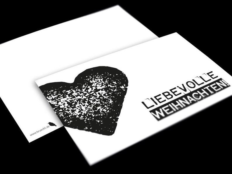 Weihnachtsgrüße Personalisiert.Weihnachtskarte Postkarte Weihnachtsgrüße Stempeloptik Postkarte Weihnachten Weihnachtspostkarte Postkarte Herz Karte A6 Merry X Mas