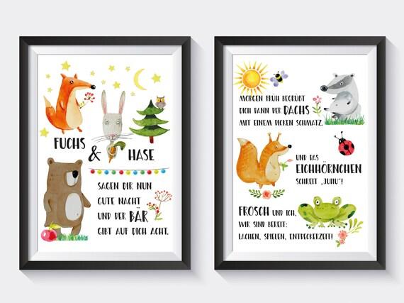 Kinderzimmer Poster Kinderzimmer Dekoration Wandbild Illustration Poster Geschenk Junge Geschenk Mädchen Geburtstagsgeschenk Kind