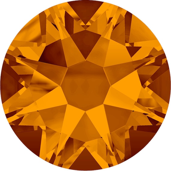 2038 /& 2078 Swarovski® Hotfix Crystals Flatback Tangerine 2000