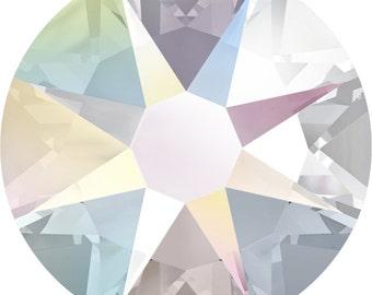 Crystal AB - 144 Pieces - Swarovski Rhinestone 2078 XIRIUS Rose HOTFIX Flat Back