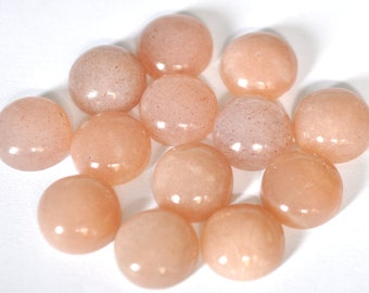 39 Carat Loose Gemstone. Natural Peach Moonstone Cabochon Moonstone 2 Pieces Lot Size 20x15 MM Peach Moonstone Oval Smooth Cabochon