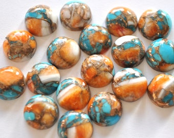 For Healing Power Amazing Quality Oyster Turquoise Mohave Healing Gemstone Shield Shape 28x17x4 Size Oyster Turquoise 11.5 Ct Cabochon