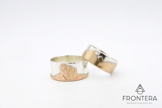 Custom Mountain Ring Unisex Mountain Ring Graduation Gift Travel Wedding ring Mens Mountain Ring Sterling Silver Mountain Ring