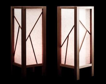 Shoji Lamp 2-Piece Set with LED Candles