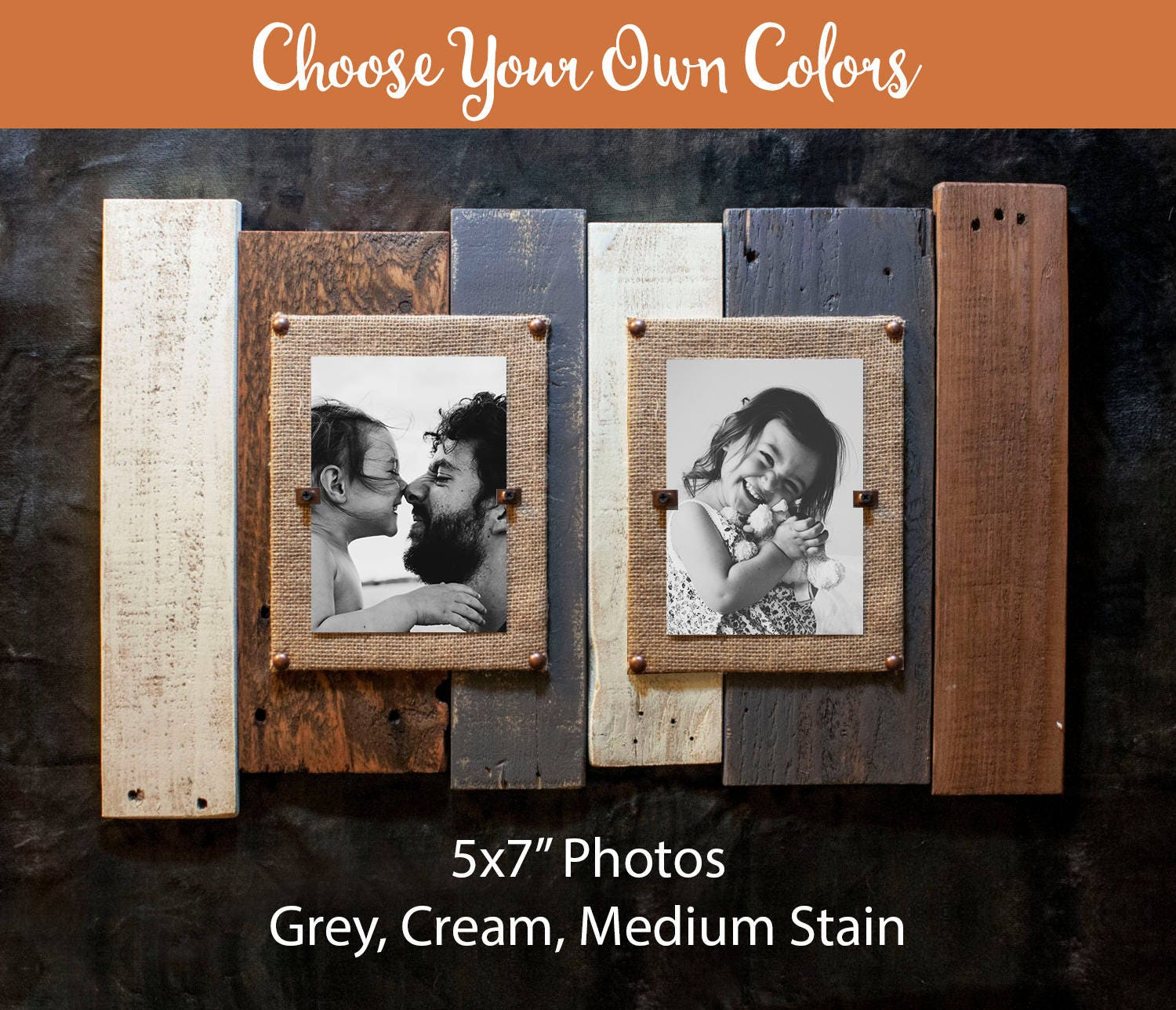 Double Picture Frame 5x7, 4x6, 8x10, Custom Double Picture Frame ...
