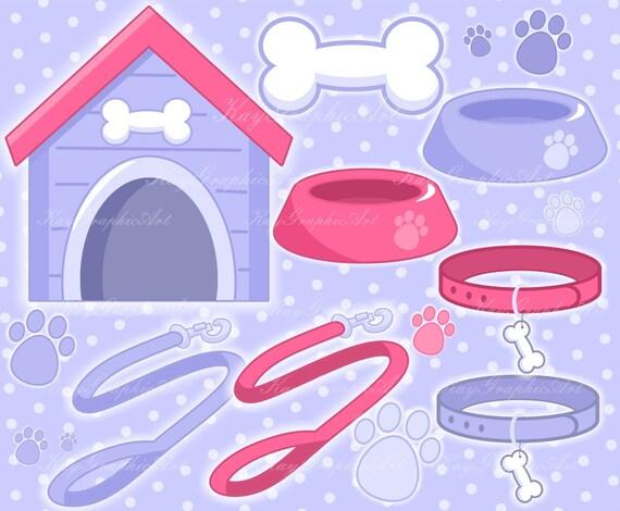 pet supplies cute dog house collar bowl leash bone dog s etsy etsy