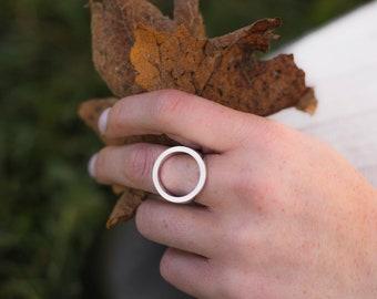 Heavy ring in sterling silver