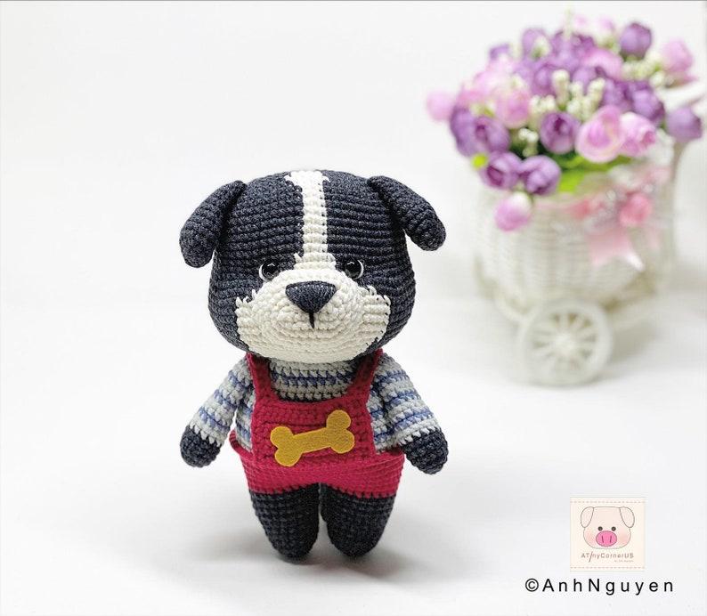 the puppy amigurumi crochet pattern dog amigurumi CROCHET PATTERN crochet tutorial Sam dog crochet pattern