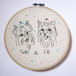Double custom dog portrait (or other pet)