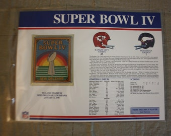 8b3b9801e84 Official Willabee and Ward NFL Super Bowl Patch Kansas City Chiefs vs Minnesota  Vikings