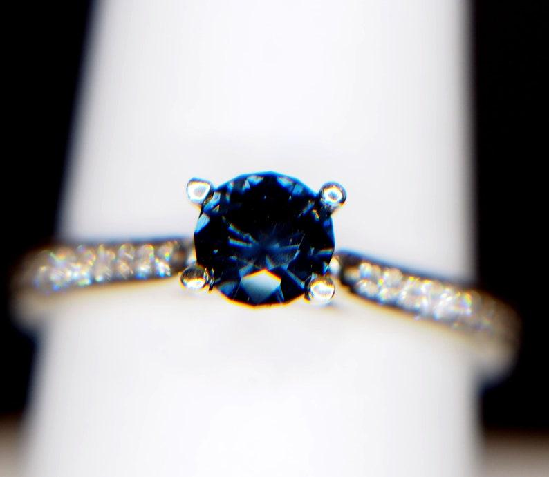 b1b5964673c50 African Blue Sapphire Damond Accented White Gold Rring, Kentucky, Lexington