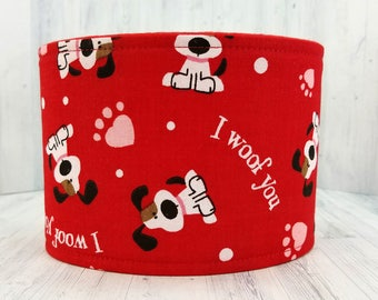 Male Dog Belly band - dog diaper - potty training aid - house breaking - incontienence wrap - Small to Large - I Woof You - READY TO SHIP