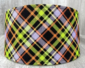 SHIPS TOMORROW - Male Dog Belly band - dog diaper - Washable and Reusable - Male dog wrap - Halloween Plaid - In Stock