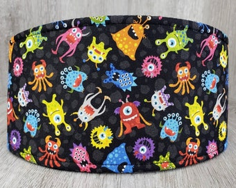 SHIPS TOMORROW - Male Dog Belly band - dog diaper - Washable and Reusable - Male dog wrap - Cute Monsters - In Stock