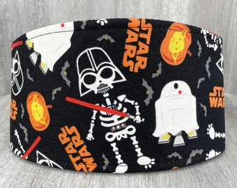 SHIPS TOMORROW - Male Dog Belly band - Washable  & Reusable - Made from Star Wars Darth Vadar Yoda R2-D2 Halloween Fabric - In Stock