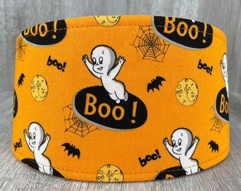 SHIPS TOMORROW - Male Dog Belly band - Washable  & Reusable - Made from Casper The Friendly Ghost Halloween Fabric - In Stock