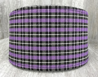SHIPS TOMORROW - Male Dog Belly band - dog diaper - Washable and Reusable - Male dog wrap - Halloween Purple Plaid - In Stock