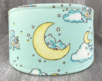 SHIPS TOMORROW - Male Dog Belly band - Washable and Reusable - XSmall to XLarge Sizes - Made from Care Bears Fabric - Sleepy Bears -In Stock