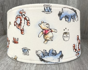 SHIPS TOMORROW - Male Dog Belly band - Washable and Reusable - Made from Winnie The Pooh Fabric - Friends - In Stock