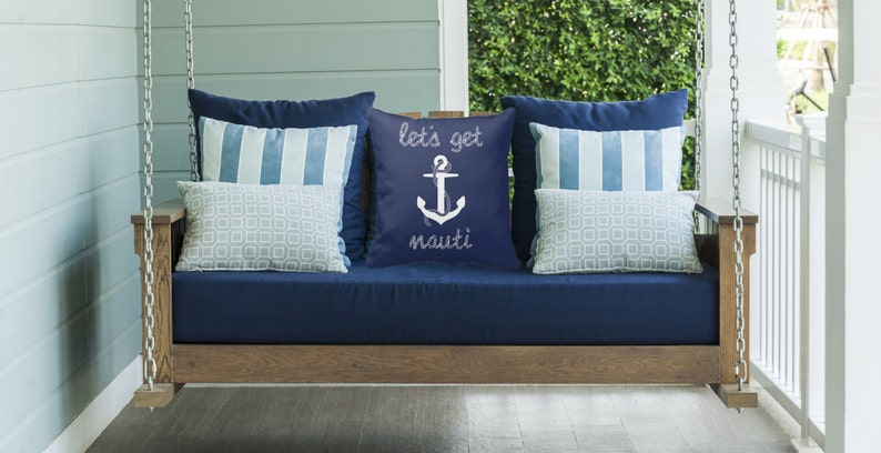 Lets Get Nauti  Decorative Pillow Case Throw Cushion Cover image 0