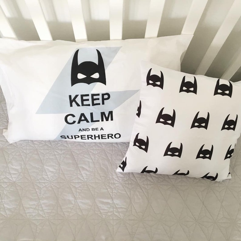 Superhero Pillowcase  Kids Pillow Case Keep Calm Kids image 0
